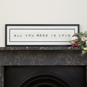 All You Need Is Love Vintage Frame - whatsnew