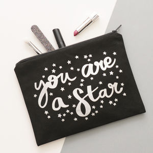 'You Are A Star' Canvas Pouch