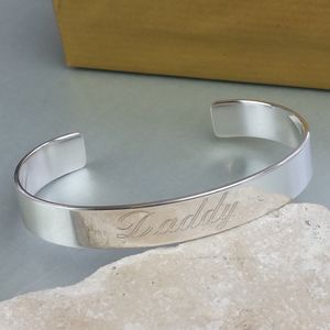 Personalised Men's Open Silver Cuff Bracelet - what's new