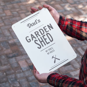 Personalised Metal Garden Shed Sign - personalised gifts for grandparents