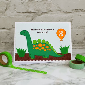 'Dinosaur' Personalised Boys Birthday Card - birthday cards