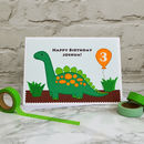 'Dinosaur' Personalised Childrens Birthday Card