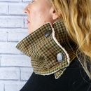 Browns Yorkshire Plaid Tweed Neckwarmer Scarf