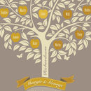 Golden Anniversary Gift Personalised Family Tree Print