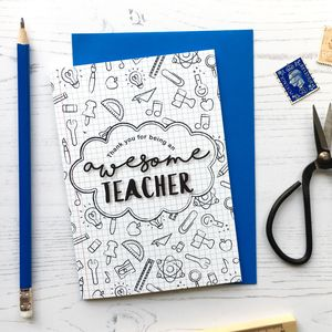 Awesome Teacher Card - teacher cards