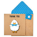 Handmade 3D Personalised Thank You Duck Card