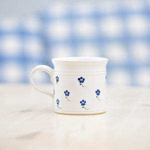 Handmade Forget Me Not Tea Cup