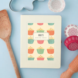 Personalised Baking Notebook - writing