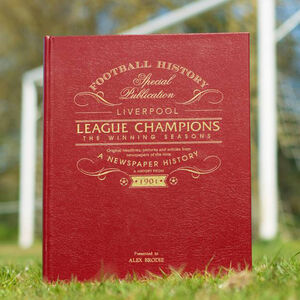 Personalised Liverpool Football League Champions Book