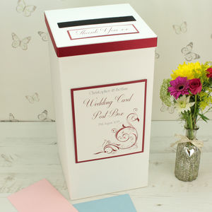 Personalised Oxford Wedding Post Box