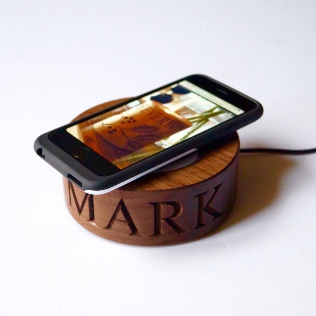 Personalised Wireless Phone Charger By