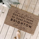 Personalised First Home Door Mat