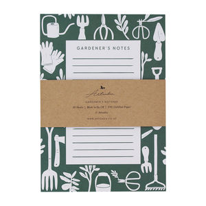 Gardener's Gardening Notes Notepad - writing
