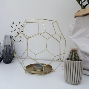 Geometric Wire Candle Holder - housewarming gifts