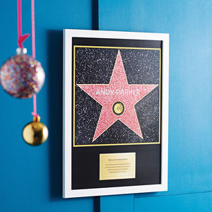 Personalised Walk Of Fame Hollywood Star - top 50 personalised art prints