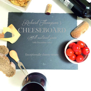 Personalised Slate Cheeseboard - tableware