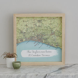 Personalised Treasured Location Map Print Gift - dates & special occasions