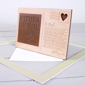 'Father Of The' Wedding Thanks Postcard - wedding thank you gifts