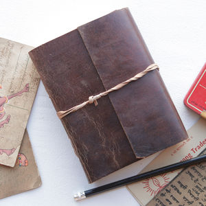 Personalised Handbound Leather Journal - more