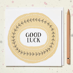 'Good Luck' Card - good luck cards