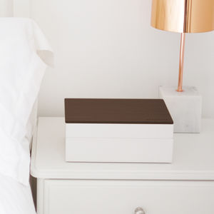 Classic Jewellery Box With Wooden Lid - bedroom
