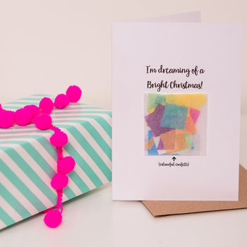 'Bright Christmas' Confetti Card