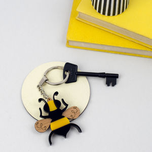 Bee Insect Keyring Or Keychain