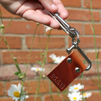Personalised Keyring, Leather Anniversary, Keyring Gift