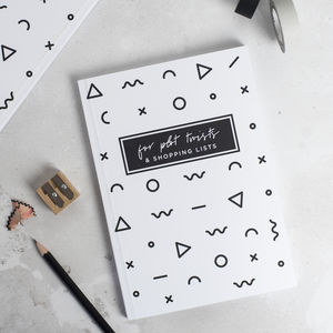 'For Plot Twists And Shopping Lists' Notebook
