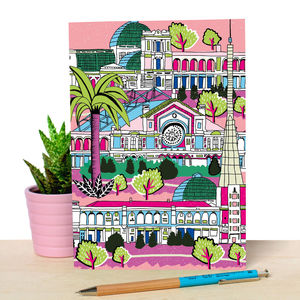Notebook With Illustration Of Alexandra Palace London