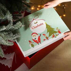 Giant Santa's Workshop Christmas Gift Box
