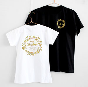 Mr And Mrs Personalised Wedding T Shirts - mr & mrs