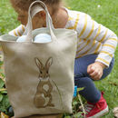 Embroidered Rabbit Easter Egg Hunting Bag