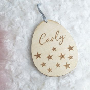 Personalised Easter Egg Little Stars Decoration
