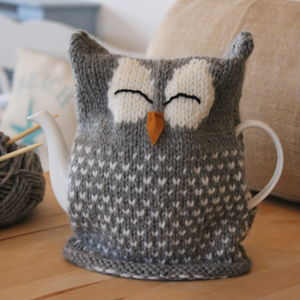Owl Tea Cosy Knitting Kit - sewing & knitting