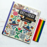 Day Of The Dead Colouring In For Grown Ups - halloween
