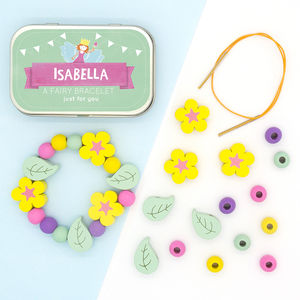 Personalised Fairy Bracelet Gift Kit