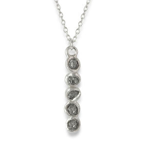 Rough Diamond Bar Pendant Necklace - necklaces & pendants