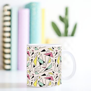 Playful Geometric Blush Mug