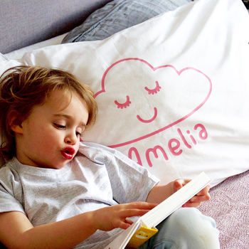 Children's Personalised Cloud Pillow Case