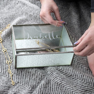 Personalised Textured Glass Jewellery Box - our top new picks