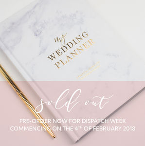 Marble And Gold Foil Wedding Planner Pre Order