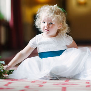Lace And Tulle Flower Girl Dress In 35 Colours - clothing