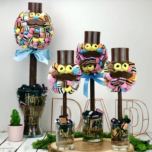 Allsort Hat And Moustache Tree - novelty chocolates