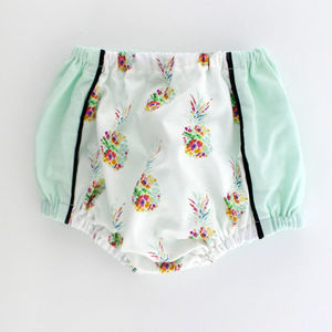 Floral Pineapple Baby Bloomers / Girls Short - clothing