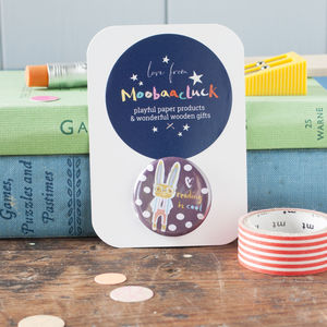 'Reading Is Cool' Rabbit Badge - party bags and ideas