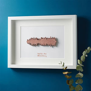 Framed 3D Favourite Song Sound Wave - 40th birthday gifts