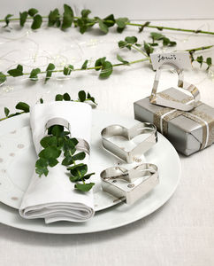 Set Of Four Napkin Rings Place Card Holders - napkins & napkin holders