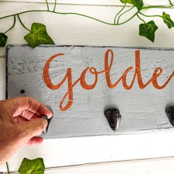 Personalised Gold,Copper,Silver,Bronze Script Hookboard