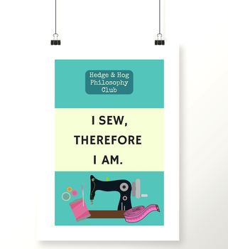 Sewing Room Craft Art Print
